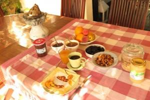 Petit déjeuner compris chambres d'hôtes